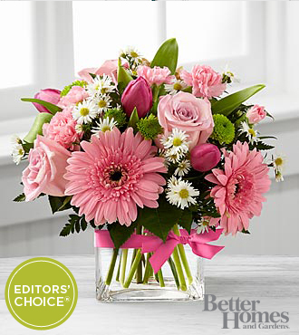 The FTD Blooming Vision Bouquet by Better Homes and Gardens - VASE INCLUDED