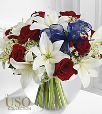 The FTD &reg; Independence&trade; Bouquet - VASE INCLUDED