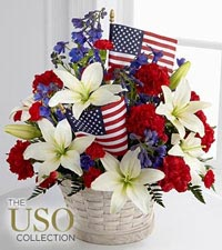 The FTD ® American Glory™ Bouquet - BASKET INCLUDED