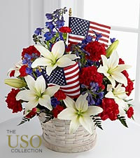 The FTD &reg; American Glory&trade; Bouquet - BASKET INCLUDED