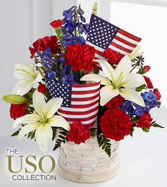 The FTD&reg; American Glory&trade; Bouquet - BASKET INCLUDED