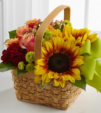 The FTD&reg; Bright Day&trade; Basket - BASKET INCLUDED