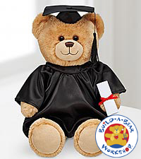 Build-A-Bear Workshop&reg; Con-GRAD-ulations Bear with Black Gown