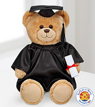 Build-A-Bear Workshop® Con-GRAD-ulations Bear with Black Gown