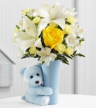 The Baby Boy Big Hug Bouquet by FTD - VASE INCLUDED
