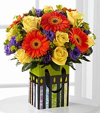 The Perfect Birthday Gift Bouquet by FTD ® - DECORATIVE BAG INCLUDED