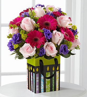 Perfect Birthday Gift Flowers By FTD - Decorative Bag Included