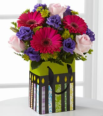 The Perfect Birthday Gift Bouquet by FTD&reg; - DECORATIVE BAG INCLUDED