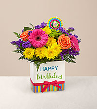 The FTD ® Birthday Brights™ Bouquet - VASE INCLUDED