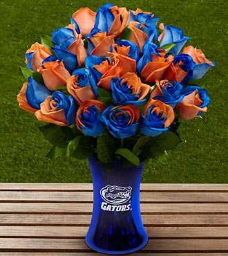 The FTD® University of Florida® Gators® Rose Bouquet - 24 Stems - VASE INCLUDED