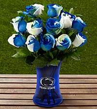 The FTD ® Penn State ® Nittany Lions ® Rose Bouquet - 12 Stems - VASE INCLUDED