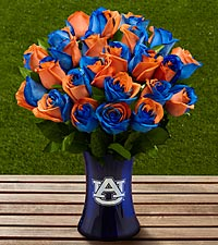 The FTD&reg; Auburn University&reg; Tigers&trade; Rose Bouquet - 24 Stems - VASE INCLUDED