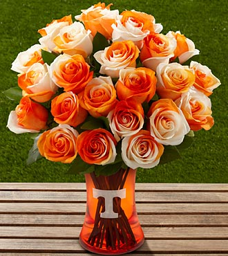 The FTD® University of Tennessee® Vols® Rose Bouquet - 24 Stems - VASE INCLUDED