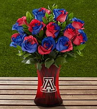 The FTD® University of Arizona® Wildcats™ Rose Bouquet - 12 Stems - VASE INCLUDED