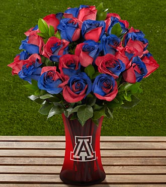The FTD® University of Arizona® Wildcats™ Rose Bouquet - 24 Stems - VASE INCLUDED