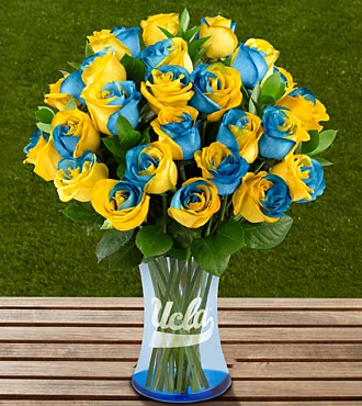 The FTD&reg; UCLA Bruins&reg; Rose Bouquet - 24 Stems - VASE INCLUDED