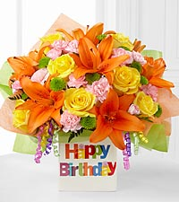 The Birthday Celebration&trade; Bouquet by FTD&reg; - VASE INCLUDED