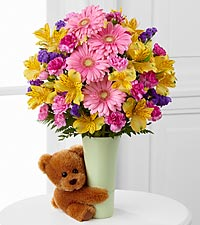 The Festive Big Hug ® Bouquet by FTD ® - VASE INCLUDED