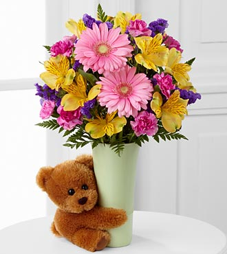 The Festive Big Hug&reg; Bouquet by FTD&reg; - VASE INCLUDED