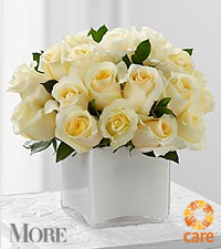 FTD&reg; White Warmth Bouquet in More&reg; Magazine to benefit CARE