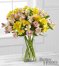 The FTD® Sunlit Daydreams Bouquet by Better Homes and Gardens® - VASE INCLUDED