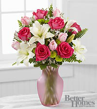 The FTD® Pink Possibilities Bouquet by Better Homes and Gardens® - 16 Stems - VASE INCLUDED