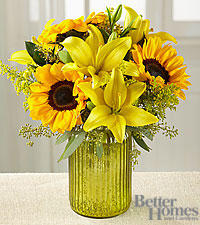 The FTD ® Sunny Side Up Bouquet by Better Homes and Gardens ® - VASE INCLUDED