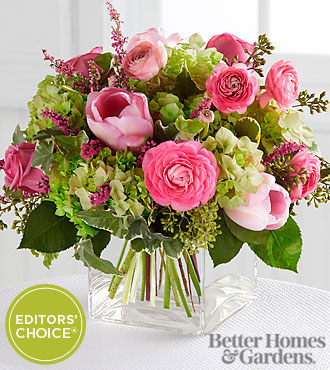 The FTD&reg; Blooms of Hope Bouquet by Better Homes and Gardens&reg; - 14 Stems - VASE INCLUDED