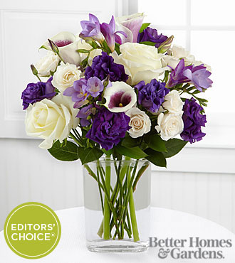 The FTD® Moonlit Meadows Bouquet by Better Homes and Gardens® - 14 Stems - VASE INCLUDED