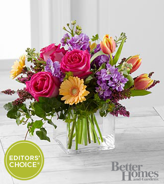 The FTD® Spring Festival Bouquet by Better Homes and Gardens® - 22 Stems - VASE INCLUDED