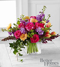 The FTD ® Spring Festival Bouquet by Better Homes and Gardens ® - 27 Stems - VASE INCLUDED