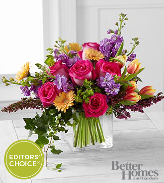 The FTD® Spring Festival Bouquet by Better Homes and Gardens® - 27 Stems - VASE INCLUDED