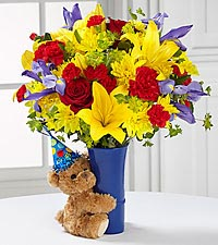 The FTD ® Big Hug ® Birthday Bouquet -VASE INCLUDED