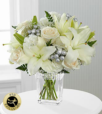 Flower Arrangement Clear Glass Bouquet