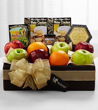 The FTD&reg; Exclusive Fresh Fruit & Savories Gift Box