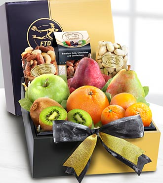 The FTD&reg; Gourmet Fruit & Nuts Gift Box - GOOD