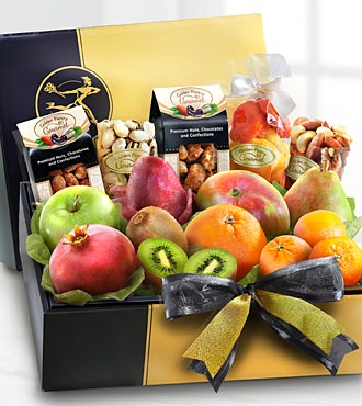 The FTD&reg; Gourmet Fruit & Nuts Gift Box - BEST