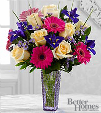 The FTD ® Hello Happiness Bouquet by Better Homes and Gardens ® - VASE INCLUDED