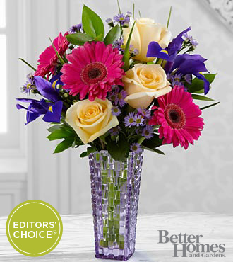 The FTD&reg; Hello Happiness Bouquet by Better Homes and Gardens&reg; - VASE INCLUDED