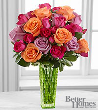 The FTD ® Sun's Sweetness™ Rose Bouquet by Better Homes and Gardens ® - VASE INCLUDED
