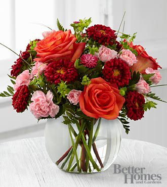 The FTD&reg; Color Rush&trade; Bouquet by Better Homes and Gardens&reg; - VASE INCLUDED