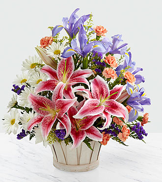 the wondrous nature bouquet by ftd   basket included
