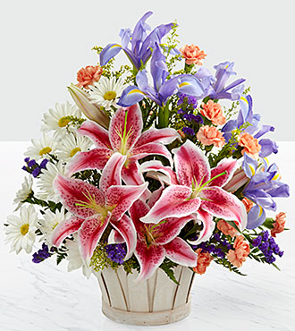 FTD Wondrous Nature Flowers - BASKET INCLUDED
