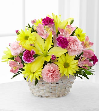 The Basket of Cheer&reg; Bouquet by FTD&reg; - BASKET INCLUDED