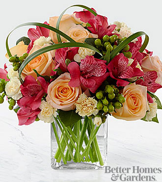 The FTD All Aglow Bouquet by Better Homes and Gardens - VASE INCLUDED