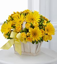 Flower Deliveries on The Uplifting Moments    Bouquet By Ftd     Basket Included