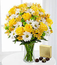 The Random Acts of Flowers Sunny Sentiments™ Bouquet by FTD ® - VASE INCLUDED