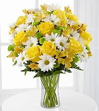 Le bouquet Sunny Sentiments<sup>&trade;</sup> de FTD� - VASE INCLUS