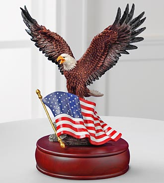 American Eagle Figurine Music Box by San Francisco Music Box Company