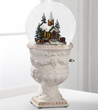 Christmas Village Church Snow Globe by San Francisco Music Box Company